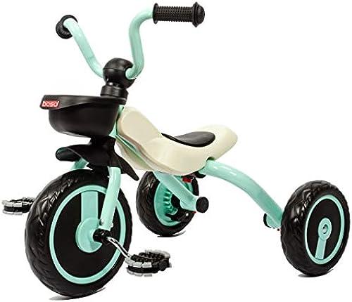 Faltbare Kinder Anti-überschlag-Dreirad Kinderwagen 3-5 Jahre altes Baby-Fahrrad (Farbe   Cyan)