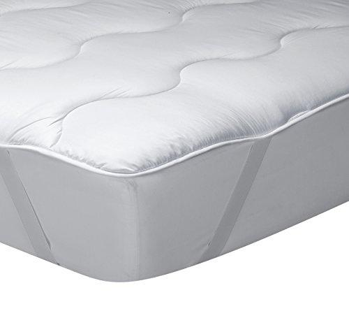 Classic Blanc - Topper de fibra hueca siliconada Ecolofil y tejido exterior de microfibra perchada de 3 cm hipoalergénico y transpirable