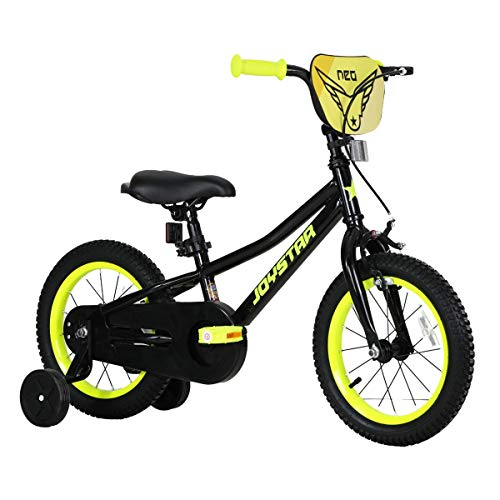 JOYSTAR 14 Inch Kids Bikes with Training Wheels for 3 4 5 Years Old Boys 14' Toddlers Cycle for Early Rider Bicycles Children Pedal Bike Black