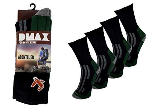 DMAX 4 6 12 Paar Abenteuer Herren Socken für echte Kerle, wahlweise in Schwarz, Anthrazit, Grau, Camouflage und drei Größen 39-42/43-46/47-50 (47-50, 6 Paar Schwarz)