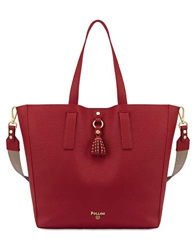 Pollini SC4504PP1ASB150A Tasche mit Schultergurt für Damen Farbe Rot Koralle