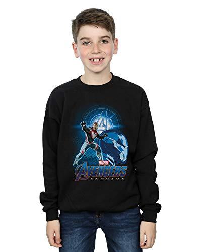 Marvel Jungen Avengers Endgame Iron Man Team Suit Sweatshirt Schwarz 12-13 Years
