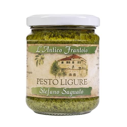 Pesto de Liguria con albahaca genovesa DOP sin pasteurizar (3 x 180 gramos)