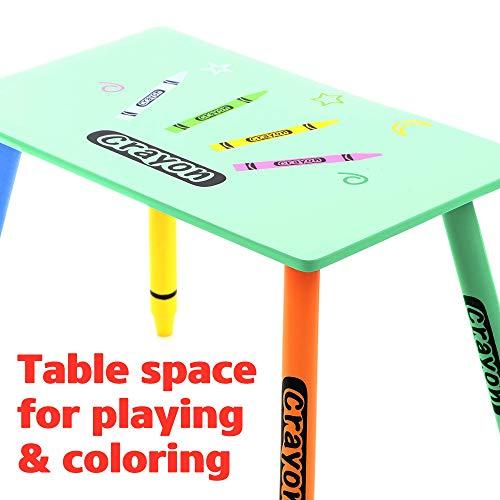 Kiddi Style les Enfants Bois Ensemble table et chaises crayon multicolore
