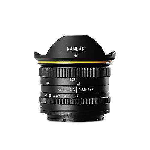 【国内正規品】 KAMLAN 交換レンズ 単焦点魚眼レンズ 8mm F3.0 キヤノン Mマウント用 APS-C対応 フィッシュアイ 国内保証付き KAM0004