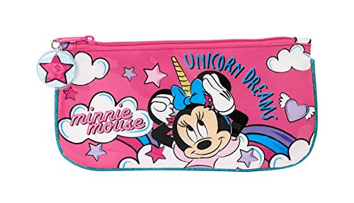 Safta Estuche Escolar de Minnie Mouse, Multicolor (Minnie Mouse Unicornios)