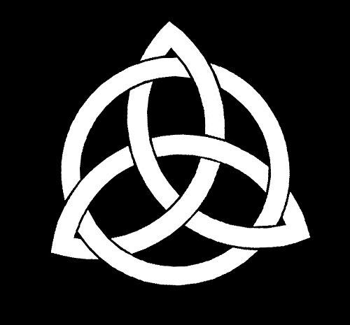 LLI Celtic Knot | Decal Vinyl Sticker | Cars Trucks Vans Walls Laptop | White |5.5 x 5.4 in | LLI797