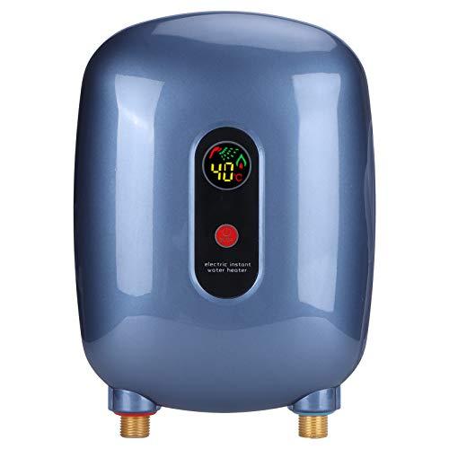 Calentador de agua sin tanque eléctrico 110V 3000W, calentador de agua instantáneo eléctrico con protección contra sobrecalentamiento, pantalla LED, protección contra fugas(Enchufe estadounidense)
