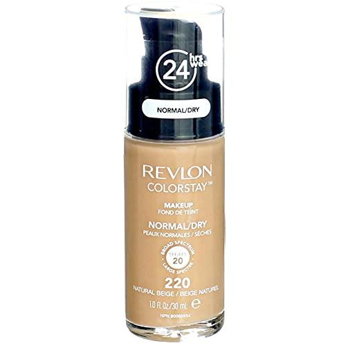 Revlon ColorStay for Normal/Dry Skin Makeup, Natural Beige [220] 1 oz (Pack of 2)