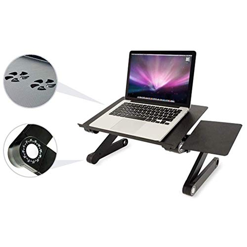 Laptop Table Portable Laptop Workstation Notebook Stand with CPU Cooling Fans, Lightweight Bed/Sofa/Couch Lap Tray