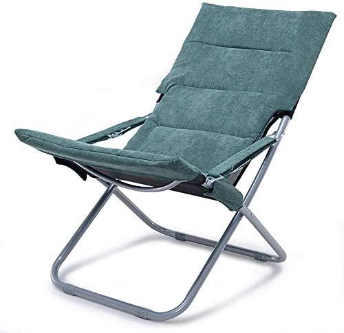 Sun Loungers - Tumbona plegable para jardín, oficina, al aire libre, portátil, para 160 kg, color verde