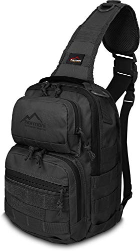 normani US Assault Pack One Strap Recon - Rucksack 8 Liter Volumen Farbe Schwarz