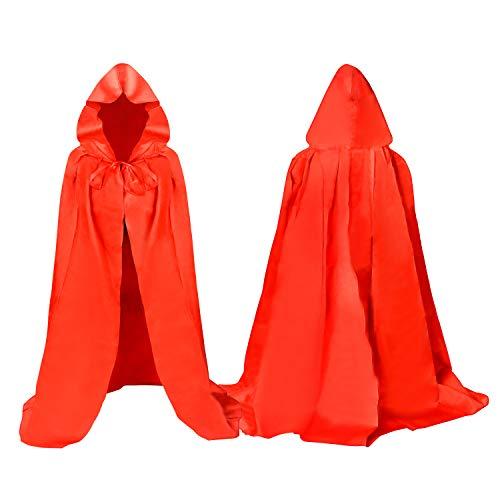 Proumhang Kind Hooded Cape Vampire Kostuum Carnaval Halloween Kerstmis Pasen Zwart-XXL