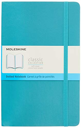 Moleskine Classic Notebook, Soft Cover, Large (5' x 8.25') Dotted, Reef...