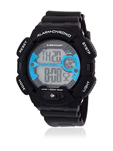 Dunlop Reloj Digital para Unisex Adultos de Cuarzo con Correa en Caucho DUN225G03