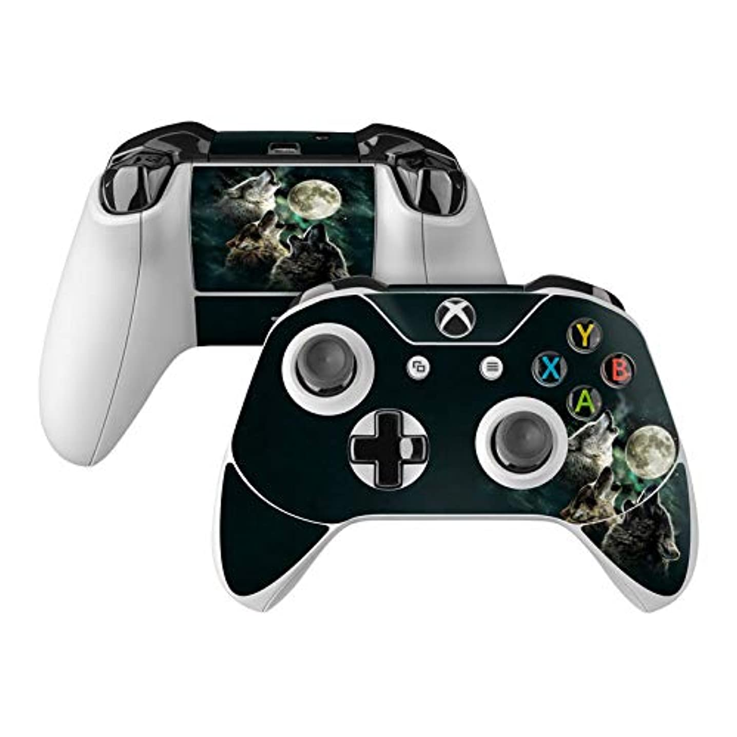 Three Wolf Moon Skin Decal Compatible with Microsoft Xbox One and One S Controller - Full Cover Wrap for Extra Grip and Protection