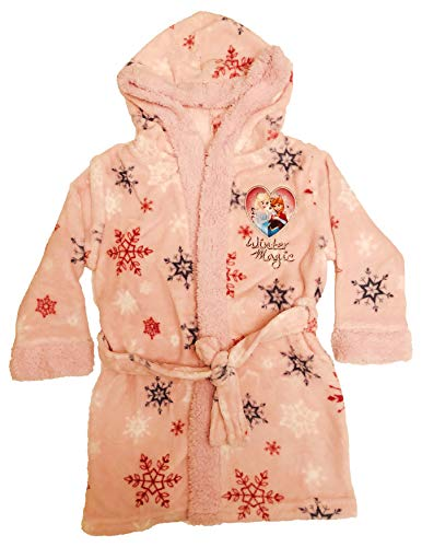 Disney Frozen Coral Fleece Bademäntel, Rosa (128/8 Jahre)