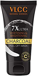 VLCC 7X Ultra Whitening and Brightening Charcoal Peel Off Mask, 100g