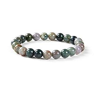 Opague Tanzanite Quartz Gemstone Bracelet 7.5 inch Stretchy Chakra Gems Stones Healing Crystal Great Gifts (Unisex) GB8B-46