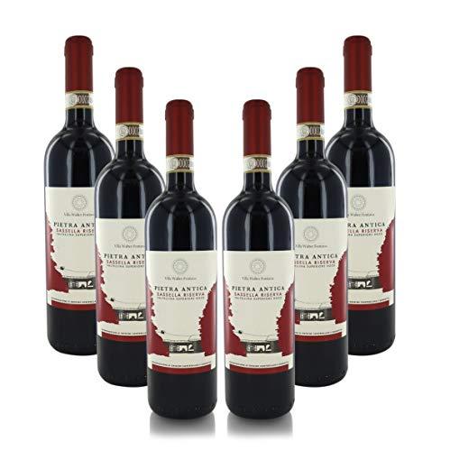 Vino Rojo Pietra Antica, Sassella Reserva Valtellina Superiore DOCG, Cosecha 2016, Caja de 6 Botellas, 75 cl