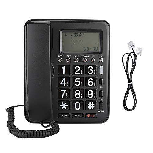 Telefoon, bedrade telefoon, bedrade Engelse telefoon, met luidspreker Voice Recorder Nummerweergave, ondersteuning voor handsfree bellen