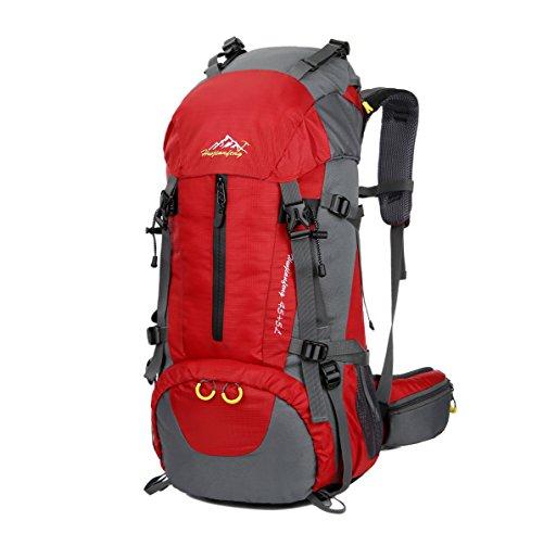 WoneNice Mochila de Senderismo Impermeable de 50 L (45 + 5) – Mochila Deportiva al Aire Libre con Cubierta de Lluvia para Escalada, montañismo, Camping, Pesca, Viajes, Ciclismo, esquí