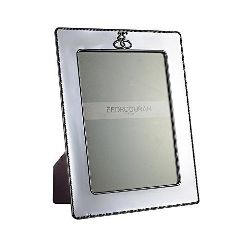 Pedro Duran 02304647–Rahmen mit Jahrestag Design, 19x 24cm, Silber