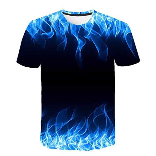 Rosennie Herren 3D Druck T-Shirt Sommer Kurzarm T-Shirt Fitness Gym Tankshirt Muskelshirt für Männer Kurzarmshirt Top Oberteil Mode Motiv Freizeit Bluseshirt Casual Slim Hemd Top