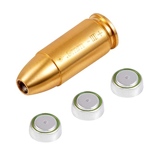 HONYAO Laser Bore Sight Red Dot Boresighter .222/ .223/ .243/ .300/ 270W/ 12GA/ 9mm/ 7.62X39mm/ 7.62X54mm Laser Boresight with Batteries