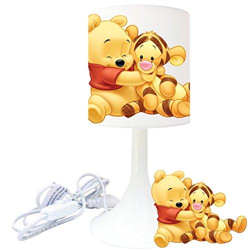 Lampe de chevet de création - Lampe à poser enfant - Bébé Winnie Tigrou