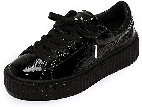 Puma Creeper Wrinkled Patent Fenty by Rihanna 501 (39, Black Patent)
