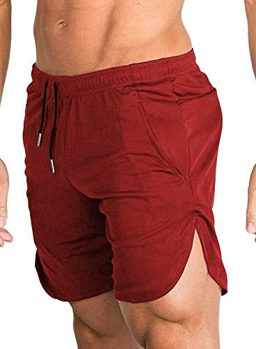 COOFANDY Pantalones Cortos de Entrenamiento de Culturismo para Hombres Pantalones Cortos Pantalones Cortos de Gimnasio con Bolsillos