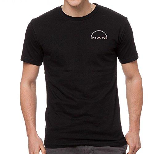 Man LKW Auto Bestickte T-Shirt super Premium-Qualität, 100% Baumwolle -4111-SCHWARZ (XL)