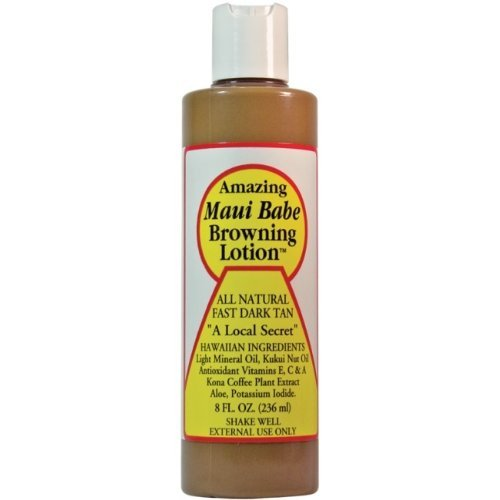 Browning Lotion - All Natural Fast Dark Tan 8 fl.oz by Maui Babe (English Manual)