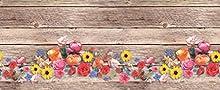 Homelife Alfombra Vinílica de Cocina Lavable y Antideslizante Alfombra Rectangular de PVC Antimanchas, Interior y Exterior   Alfombra Pasillera con Bouquet de Flores (52x100 cm)