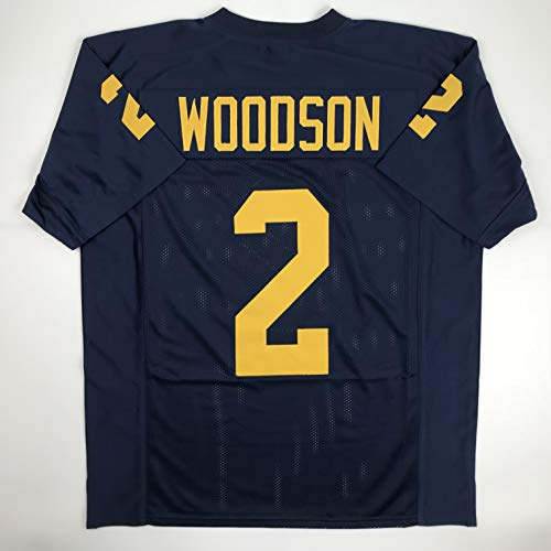 Unsigned Charles Woodson Michigan Blue Custom Stitched College Football Jersey Size Men's XL New No Brands/Logos