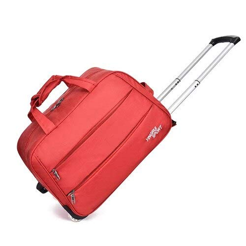 Mdsfe Large-capacity outdoor trolley bag waterproof Oxford cloth 20 / 24inch rolling luggage fashion travel suitcase on wheel - red, 20'