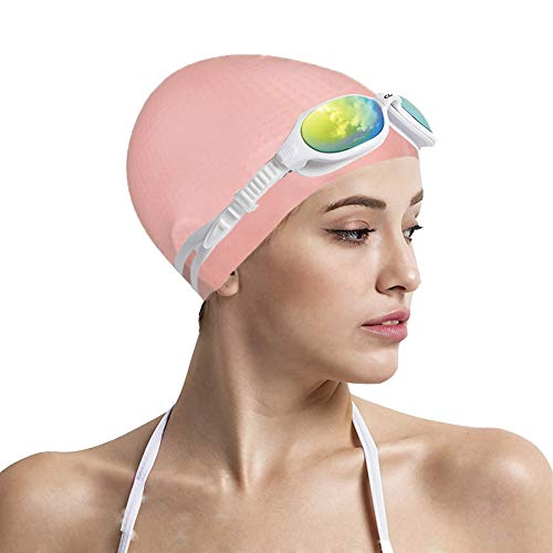 Tripsky Massage Silicone Swim Cap,Comfortable Granule Swim Cap Ideal for Curly Short Medium Long Hair, Scrub Swim Cap for Women or Men, Bath Caps Keep Hairstyle Unchanged