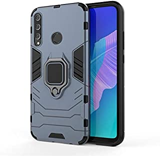 Shockproof Armor Case For Huawei Y7p Phone Case Stand holder Car ring Phone Cover - Navy