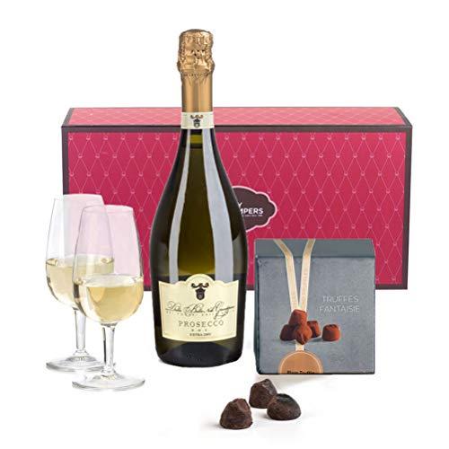 Hay Hampers Prosecco & Chocolate Truffles Gift Hamper Box For Mum