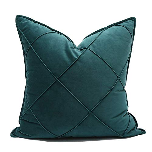 JONJUMP Funda de cojín de terciopelo con bordado de arte, funda de almohada, funda de almohada decorativa para el hogar, sofá de 45 cm x 45 cm