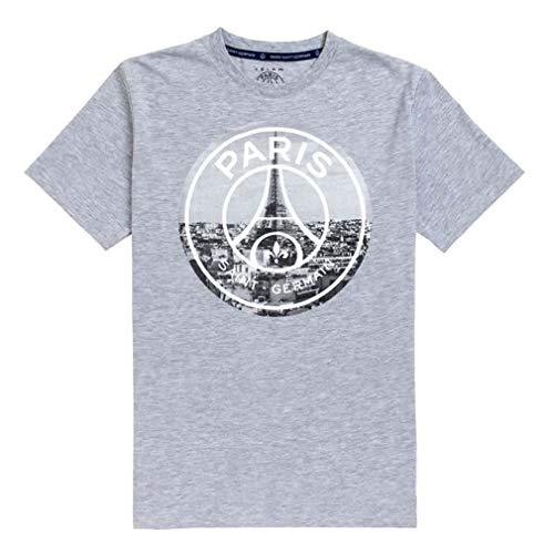 PSG - Official Paris Saint-Germain 'Eiffel Tower' Men's T-Shirt - Grey (S)
