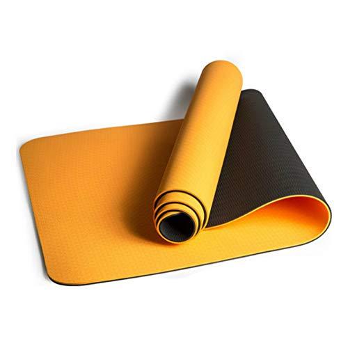 Joycaling Yoga Mat72 x 61 cm antideslizante Yoga Mat para principiantes y yoga avanzado (tamaño: 183 x 61 cm; color: naranja)