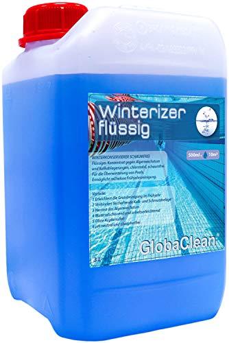 GlobaClean Überwinterungskonzentrat 3L Pool Wintermittel schaumfrei Überwinterungsmittel für Swimmingpool Winterschutzmittel Schwimmbadpflege Winterkonservierer für Schwimmbecken