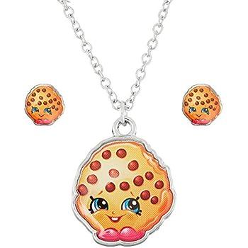 Shopkins Silvertone Kooky Cookie Necklace and | Shopkin.Toys - Image 1