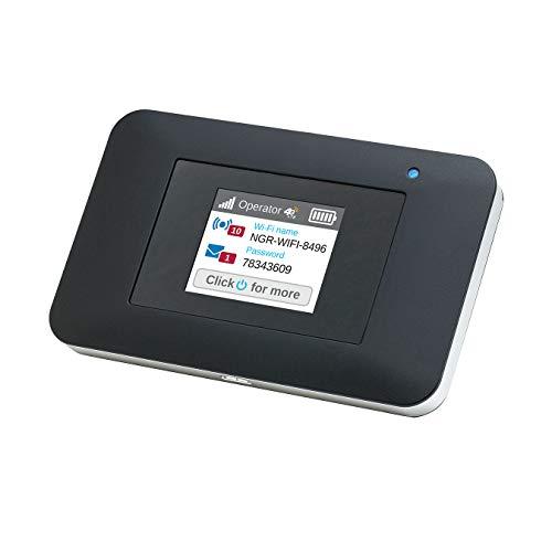 Netgear AC797 Mobiler 4G LTE Router & WLAN Router | AirCard mit bis zu 400 MBit/s Downloads | LTE Cat 13 Hotspot bis 32 Geräte | WiFi überall einrichten | für jede SIM-Karte freigeschaltet
