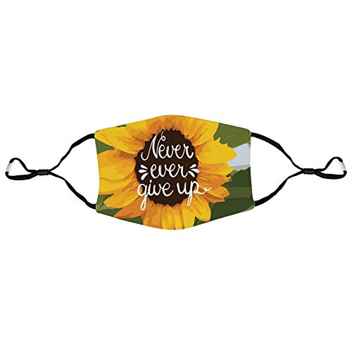 Dkisee Unisex-Gesichtsmaske, Sonnenblumen-Zitate, Anti-Staub-Maske, verstellbare Ohrschlaufen, Gesichtsmaske für den Außenbereich