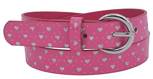 EANAGO Kindergürtel 'Feentraum pink' für Mädchen (Kindergarten- und Grundschulkinder, 5-9 Jahre, Hüftumfang 57-72 cm), Gürtelmaß 65 cm, mit Glitzersteinchen …