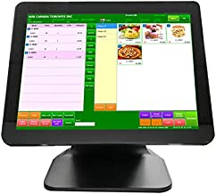 "POS Cash Register for Small Business, Restaurant, Supermarket, Grocery, Club, Convenience, Pharmacy, Retail, POS Machine with 15"" Touch Screen Monitor, 4G+64G, WiFi Module, Windows 10 Pro. OS"