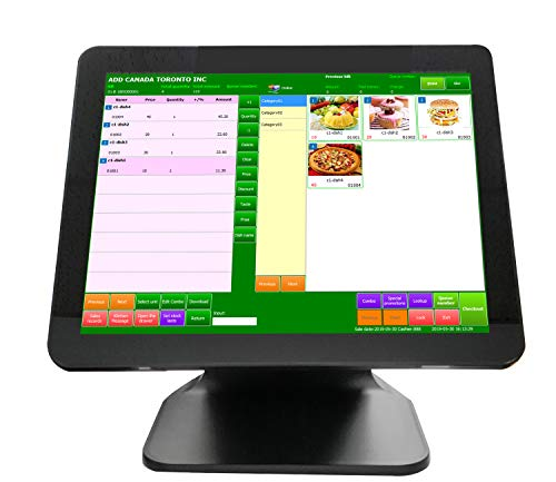 """POS Cash Register POS Machine 4G+64G with 15"""" Touch Screen Monitor WiFi Module Windows 10 for Small Business, Restaurant, Supermarket, Grocery, Convenience, Pharmacy, Retail (Single Screen)"""